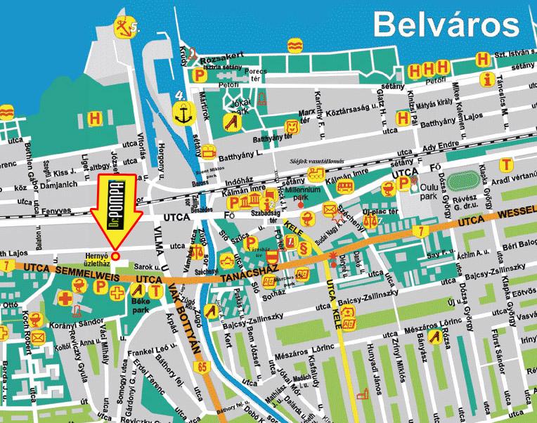 térkép siófok Automoso Siofok, Kezi automoso Siofok   Pompa Car Kft. térkép siófok